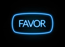 Favor  - Colorful Neon Sign On Brickwall