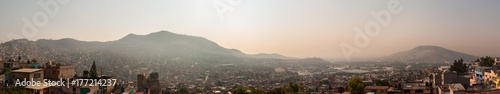 Photo  Wide Panoramic view of Tlalnepantla de Baz and Mexico City