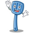 Waving spatula character cartoon style