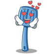 In love spatula character cartoon style