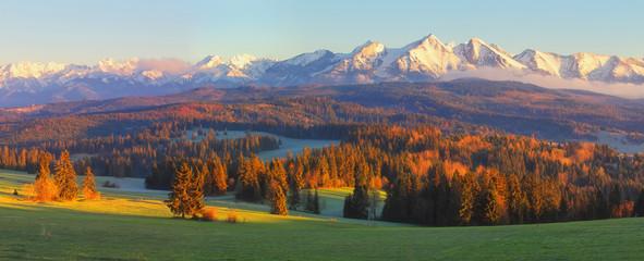 Sunny autumn lanscape
