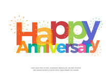 Happy Anniversary Colorful Wit...