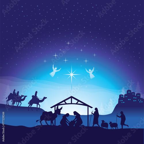 Christmas nativity scene Fototapete