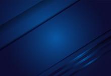 Navy Blue Gradient Geometric Background Material Design Overlap Layer  Illustration