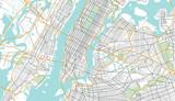 Fototapeta Nowy Jork - New York City Map. Vector Illustration.