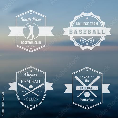Photo  Baseball club, team logo, badges, vintage emblems