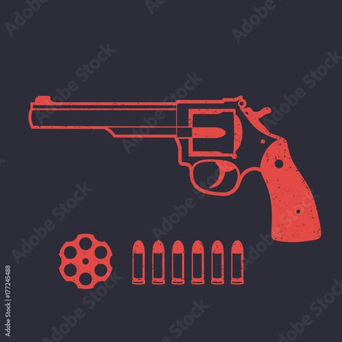 Canvas Print Revolver, handgun