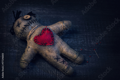 Voodoo doll with pins Tableau sur Toile
