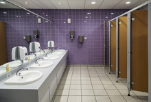 Public Bathroom With Sinks, Mi...
