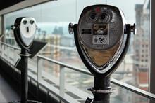 Viewing Binoculars City Rooftop