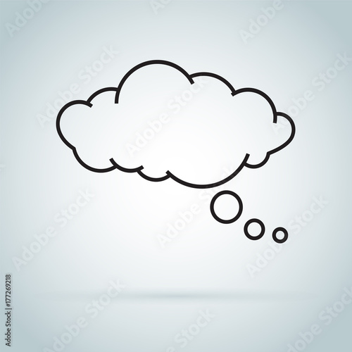 Leinwand Poster dream cloud isolated icon