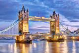 Fototapeta Londyn - London Tower Bridge bei Nacht