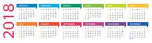 2018 Calendar - Vector Illustr...