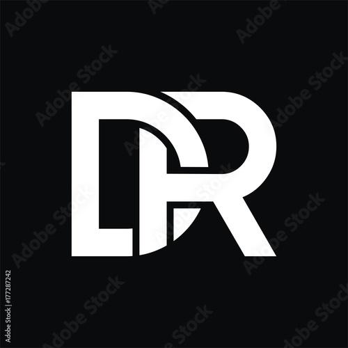 Cuadros en Lienzo DR logo initial letter design template vector