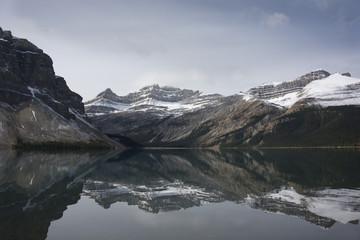 Fototapeta Czarno-biały jeux de miroir des lacs canada