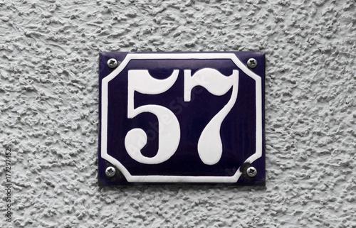 Photo  Hausnummer 57