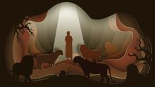 Daniel In The Lion's Den. Pape...