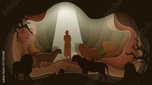 Fotografía Daniel in the Lion's Den