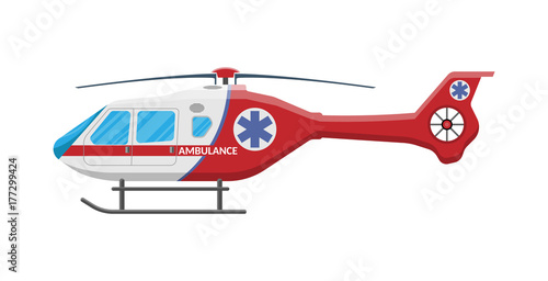 Fotomural Ambulance helicopter Medical evacuation helicopter
