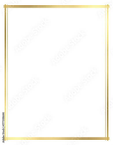 Photo Vector, Gold Border for Christmas