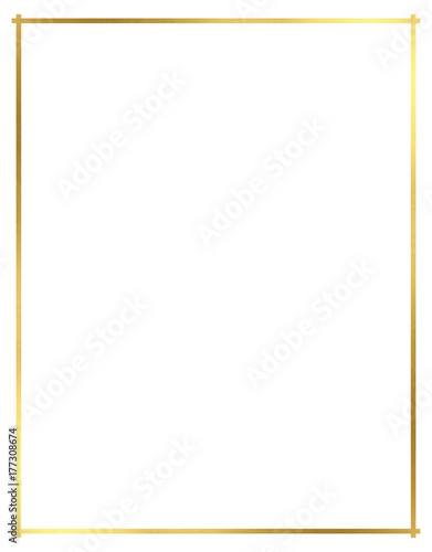 Vector, Gold Border for Christmas Wall mural