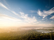 Aerial Sunrise in Princeton New Jersey