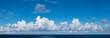 Leinwandbild Motiv High definition panoramic cloudscape over ocean