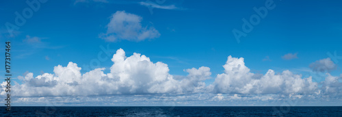 Fototapeta High definition panoramic cloudscape over ocean