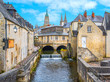 canvas print picture - Scenic view in Bayeux, Normandy, France.