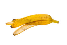Banana Peel Isolated On White ...