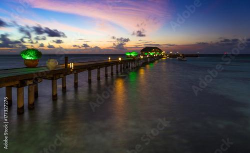 Tuinposter Baksteen Maldives