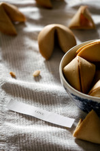 """Fortune Cookies With Message Reading """"love"""""""