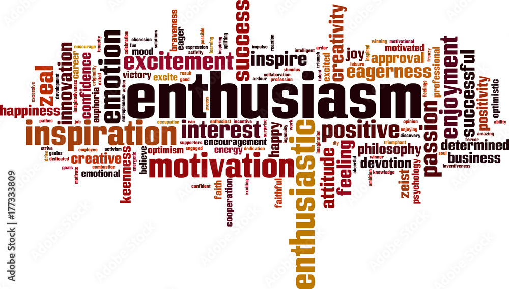 Enthusiasm word cloud <span>plik: #177333809 | autor: laufer</span>