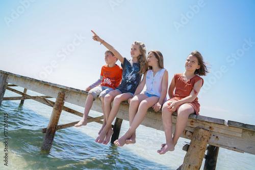 Fotografie, Obraz  eau, enfants, vacances