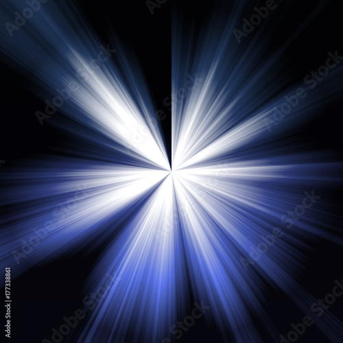 Obraz Fondo de destello azul. - fototapety do salonu