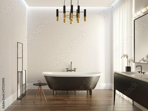 Black And White Modern Luxury Bathroom