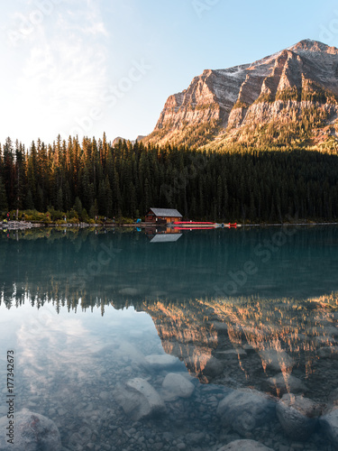 Golden hour at Lake Louise