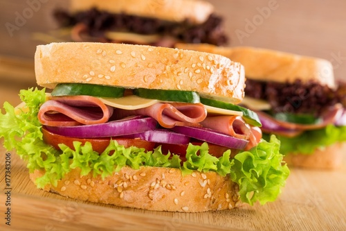 Keuken foto achterwand Snack Sandwich.