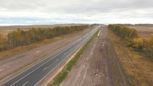 Aeria View On Highway