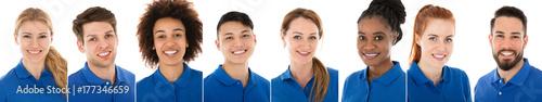 Obraz na płótnie Portret Pewni Kobieta Janitor