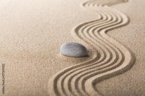Deurstickers Stenen in het Zand Zen.