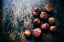 Chestnuts On A Roasting Pan