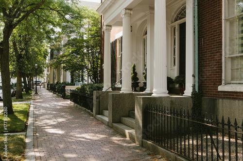 Plakát Federalist Architecture in Downtown Salem, Massachusetts, USA