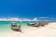 Beautiful sunny day at Koh Khai & Koh Porda of Krabi province in Thailand