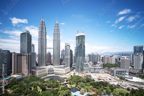 Photo Stands Kuala Lumpur modern buildings in midtown of modern city
