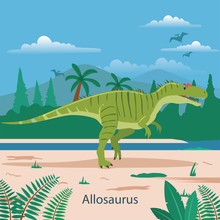 Allosaurus. Prehistoric Animal