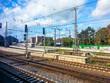 Tracks and platform of Bremen railway station, Bremen, Germany
