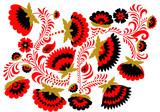 Tło w stylu etnicznym rosyjski hohloma - 177380458
