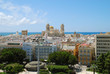 Aerial view of the Cathedral of Cadiz, Spain