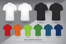 Men's Polo Shirt Mockup, Set O...